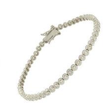 Bracciale tennis alta qualità cipollina cm 21 in argento 925 rodiato con zirconi