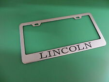 """(1pc)"""" LINCOLN """" Stainless Steel license plate frame"""