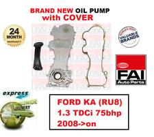 Per Ford Ka (RU8) 1.3 TDCI 75bhp 2008- > in Poi Nuovo Fai Pompa Olio +Copertura