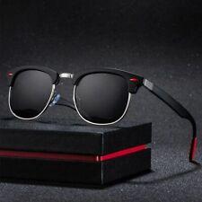 Polarized Sunglasses Semi-Rimless for Men Half Frame Shades UV400 Protection