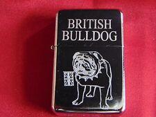British Bulldog Engraved / Impact Printed Fuel STAR Lighter With Gift Box
