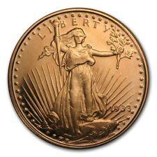 Lot of 20 - 1 oz Copper Rounds Saint Gaudens