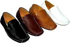 New Comfortable Driving Moccasins Men's Shoes on Black,Tan ,White and Brown cowf