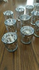 Silver mercury glass votive candle holders. Set of 12