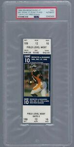 PSA - JOHN ELWAY 300 TD / DAVIS 2000 YDS - 1998 NFL DENVER BRONCOS FULL TICKET