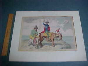 c1782 James Gillray THE CASTLE IN THE MOON Suppressed Plate Antique Print COLOUR