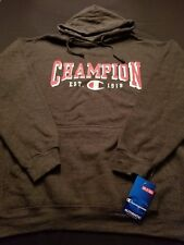 New Men's Champion Authentic Grey Pullover Hoodie Long Sleeve Sizes 2XL, XLT