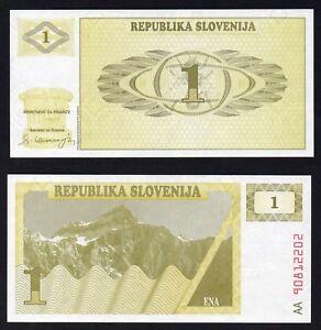 Slovenia 1 tolar 1990 FDS/UNC  A-10