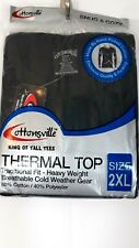Cottonsville King Of Tall Tees Mens Size 2XL Black Thermal Top cold weather gear