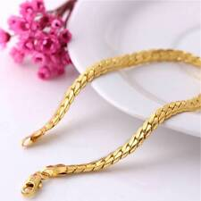 Men Women Bracelet 18K Gold Plated Copper chain Jewelry Charms Couple