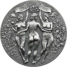 Three G 00003B9F Races Celestial Beauty 2020 2 oz Pure Silver Antique Finish Coin Cameroon