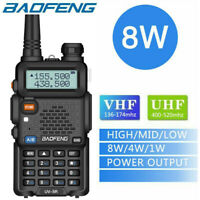 BaoFeng UV-5R Real 8W Walkie Talkie Dual Band VHF/UHF Two-Way Radios Transceiver