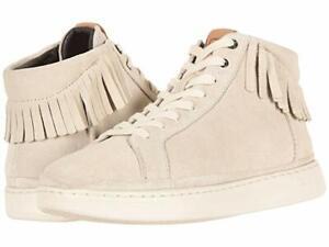 UGG Cali Sneaker High Fringe Top 'White Cap' Lace NEW $160 Retail Sz 13