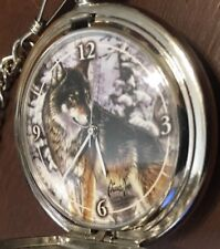 """Westminster Wo 0000363E Lf Pocket Watch, New Quartz Battery, 13"""" Chain, Used - # 334"""