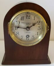 Antique 1905 CHELSEA Shreve Crump & Low Gothic Mahogany 8 Day Mantel Shelf Clock