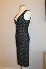 DOLCE & GABBANA Tweed Kleid it 42 dt 36 schwarz weiß Boucle