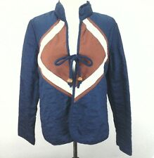 TWO POTATO Laguna Beach California Boho Hippie Jacket Quilted Blue Womens M VTG