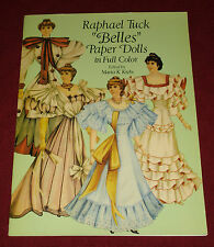 "Raphael Tuck ""Belles"" Paper Dolls in Full Color by Marta K. Krebs (1990, Dover)"
