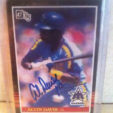 1985 Donruss Alvin Davis Auto Signed Card