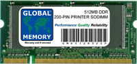512MB DDR 200-PIN PRINTER RAM (ICPVRTX-ABY, Q2632A ,Q7723A ,Q7559A ,SDD333-512M)