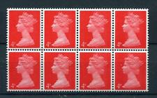 4d MACHIN UNMOUNTED MINT BLOCK OF 8 + PHOSPHOR SHIFT