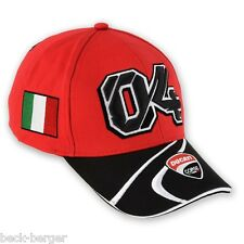 DUCATI Moto GP Hat Cap ANDREA DOVIZIOSO D04 red black new 2013