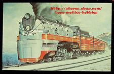 LMH Postcard MILWAUKEE ROAD 4-6-4 Hudson 101 HIAWATHA Train RUSS PORTER Painting