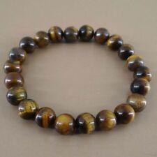 Bracelet en pierre naturelle en perles d'oeil de tigre de 8 mm