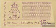 Suède 1113D carnet de timbres (complète edition) neuf avec gomme originale 1980