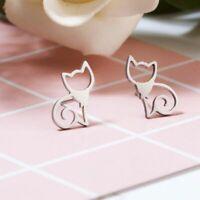Cat Contour Earrings Cat Shape Earring Mini Kitten Outline Minimalist Jewelry