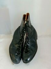 John Wilson Blades Black Leather Vintage Saga Ice Skates Size 10 Simlam K12