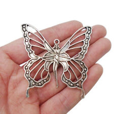 5 x Tibetan Silver Large Goddess Nouveau Butterfly Fairy Charms Pendants Beads