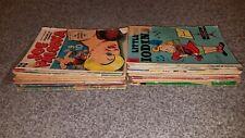 Lot of 32 Vintage Comic Books 1950's 60's Cartoon Tarzan Rob Roy Archie Tom Jerr