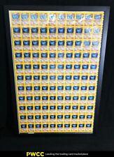 2000 Pokemon Chinese Base Set 1st Edition Holo Machamp, 110-Card Uncut Sheet