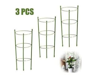 3 *Garden Plant Support Rings Support Climbing Plant Grow Cage Kit 45cm& 60cm