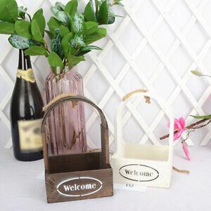 Wood Planter Box Flower Pot Plant Container Box Cafe Bar Wedding Flowers Holder