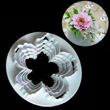 4Pcs Peony Flower Fondant Cutter Set Fondant Cake Mold Cookie Cutter Tools DIY