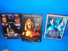 Peliculas DVD-TODO POR UN SUEÑO-NUEVE REINAS-SOLAMENTE SE VIVE UNA VEZ