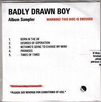 BADLY DRAWN BOY Album Sampler Born In The UK 5-tk w'marked promo test CD sealed