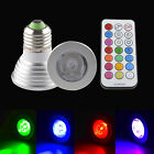 3W 5W E27 GU10 MR16 RGB LED Spot Light Bulb Lamp 16 Colors + IR Remote Control