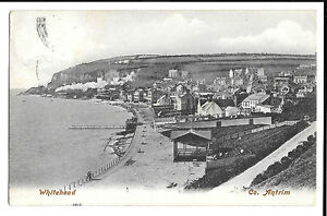 Whitehead, Co. Antrim PPC 1904 PMK to Sunderland by Lawrence of Dublin, Seafront