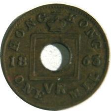 elf  Hong Kong 1 Mil 1863