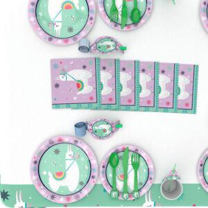LLAMA Birthday Party Range - Tableware Supplies Balloons Alpaca Decorations