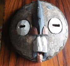 Round Hand Carved Primitive Mask - Possibly of African Origin