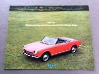 1978 Fiat 124 Spider Coupe Sedan NOS Frame Dimensions Front End Alignment Specs