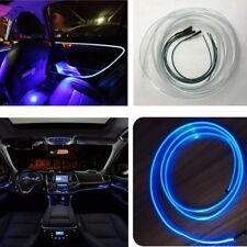 Blue 4m Car LED Interior Ambient Light Door, Center Console Optical fiber Light