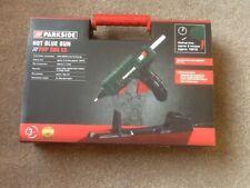 Parkside Inalámbrico Pistola de Pegamento Caliente con 3x de pegamento pega en un estuche duro NUEVO