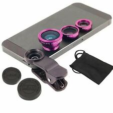 3 in1 Fish Eye+ Wide Angle+ Macro Camera Clip-on Lens for iPhone 7/6/ 6S/Plus 5S