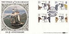 10 FEBRUARY 1982 CHARLES DARWIN BENHAM BLS1 FIRST DAY COVER HMS BEAGLE PLYMOUTH