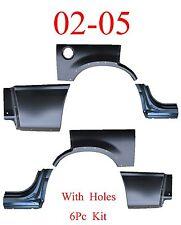 02 05 Ford Explorer W/ Holes 6Pc Dog Leg, Arch & Lower Quarter Kit, Patch, Rear